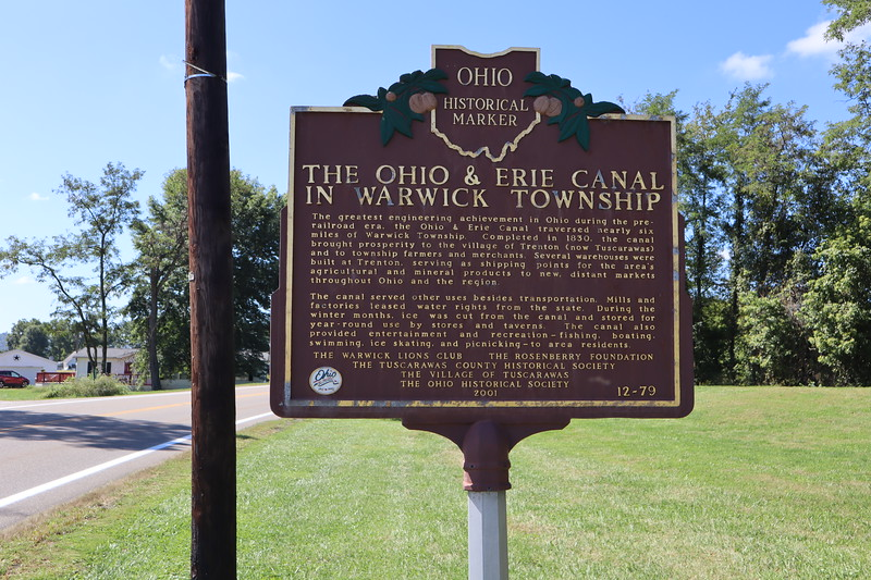 Other side of the historical marker for the Upper Trenton Lock.