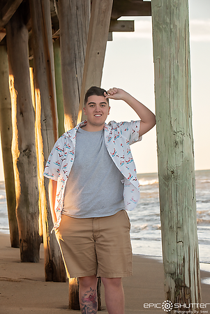 Trucker, Avalon Pier, Kill Devil HIlls, North Carolina, Outer Banks Photographer, Epic Shutter Photography, Cape Hatteras Photographer, OBX Photographer, OBX Senior Portraits, Cape Hatteras Senior Portraits, Senior Beach Portraits