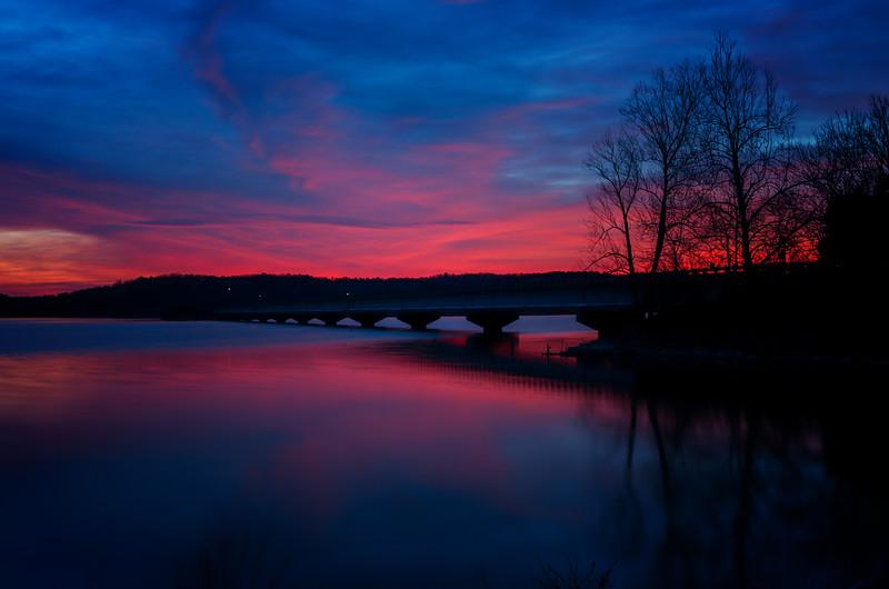 3.7.19 - HWY. 12 Bridge, Beaver Lake: First Light