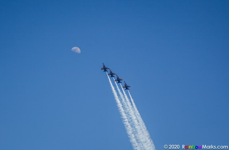 2016 Blue Angels shooting to the moon