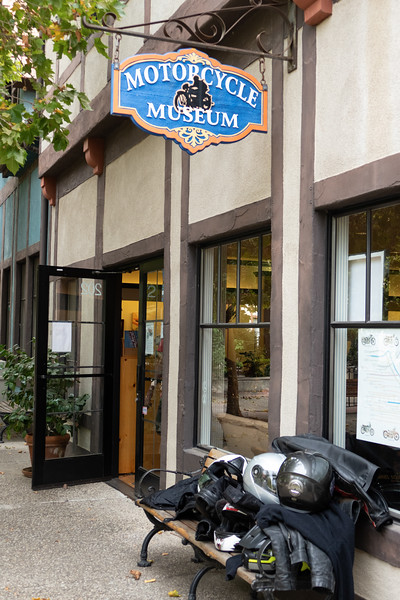 Outside the Solvang Vintage Motorcycle Museum