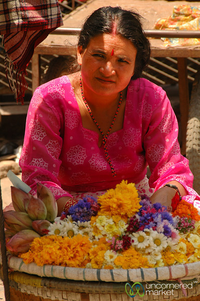 Flower Vendor - Kathmandu, Nepal