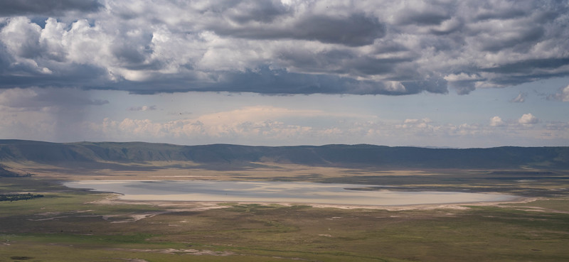 View into Ngorogoro Crater from the rim