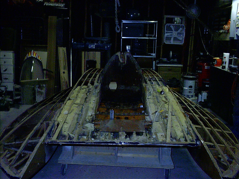 Another view of cockpit removed.