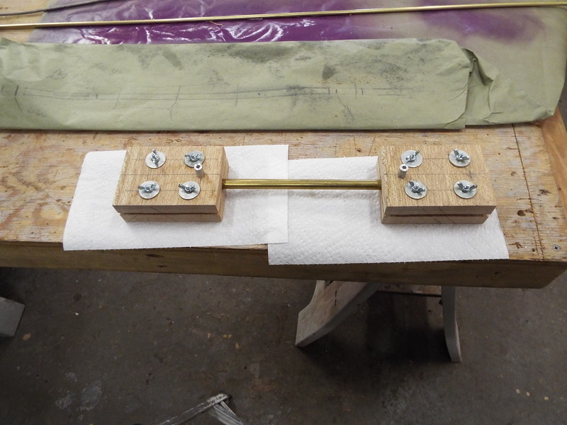 Another view of the drill jigs.
