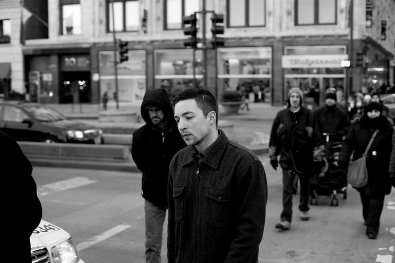 Walking to Millennium Park in Chicago, Illinois on February 19, 2011.  (Jay Grabiec)