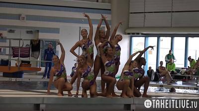 E06 Senior Team Tech Competition 2015 U.S. Open Synchronized Swimming Championships - Takeitlive.tv Livesynchro Channel