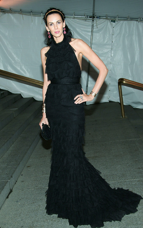 . Model L\'Wren Scott attends the MET Costume Institute Gala Celebrating Chanel at the Metropolitan Museum of Art May 2, 2005 In New York City. (Photo by Evan Agostini/Getty Images)