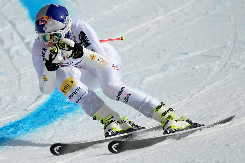 . BEAVER CREEK, CO - FEBRUARY 12: USA skier Lindsey Vonn competes during the ladies\' giant slalom. FIS Alpine World Ski Championships 2015 on Thursday, February 12, 2015. (Photo by AAron Ontiveroz/The Denver Post)