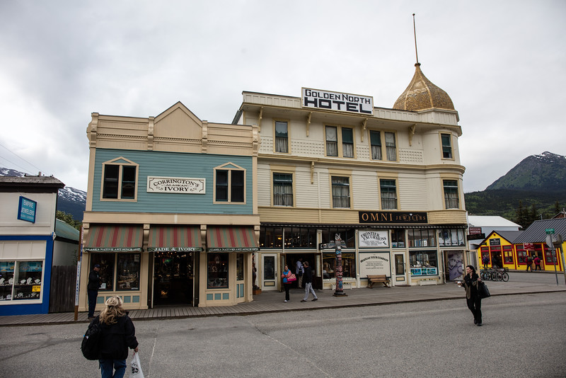 Hotel and shops in Skagway
