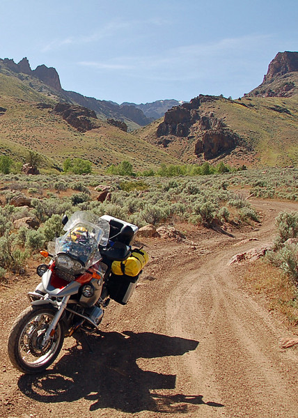 A canyon into the Steens