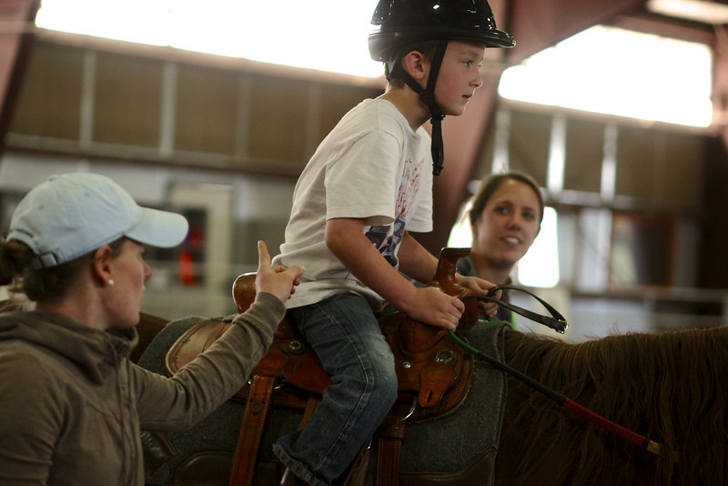 PARK CITY, UT - June 19, 2014:  National Ability Center Equestrian Program (Photo by Teague)