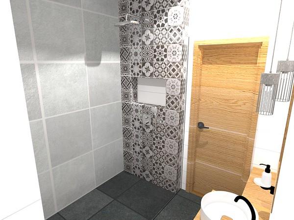 Malá koupelna se sprchovým koutem