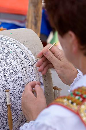 Poland, Cracow, folk art fair on Rynek Glowny