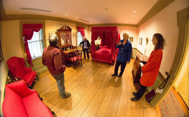 Wide view of the Chippendale Bedroom with Sean, Carol Jean, and Margaret