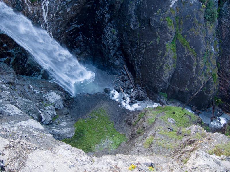 Looking down into Bear Creek Falls