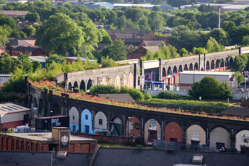 Disused railway arches in Leeds