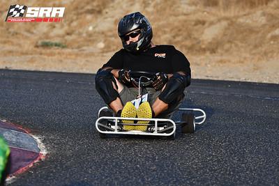 Go Quad Racer # 46 Black_Silver Helmet