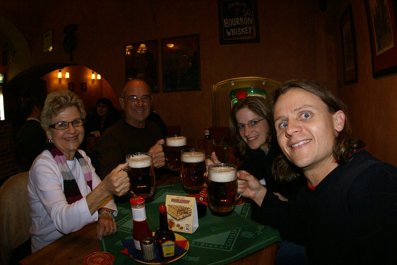 We made it to Prague!  Clearly a theme of this trip was beer. Not only is Czech beer good, but it's generally the cheapest thing to drink, and always cold. My Mom even got into it - always a liter of beer with every meal. Go, Mom! Did you know the Czech Republic is the drinking capital of the world?