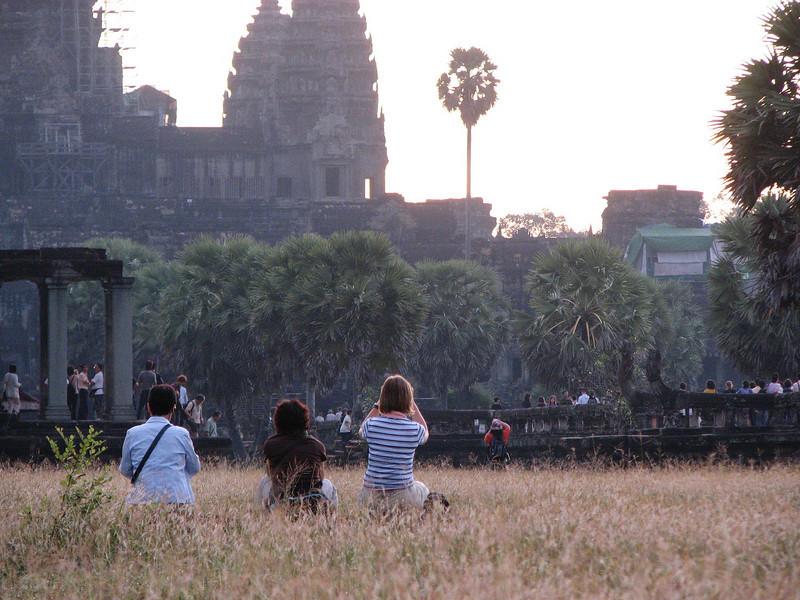 Sunrise at Angkor Wat.
