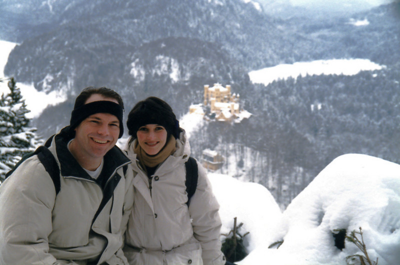 The castle in the background is Hohenschwangau...beautiful!