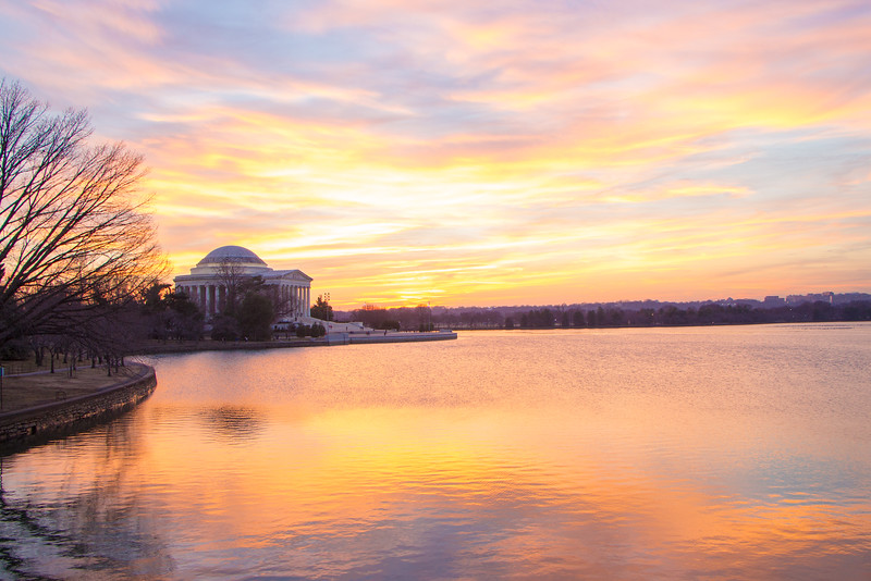 Sunset at the Tidal Basin