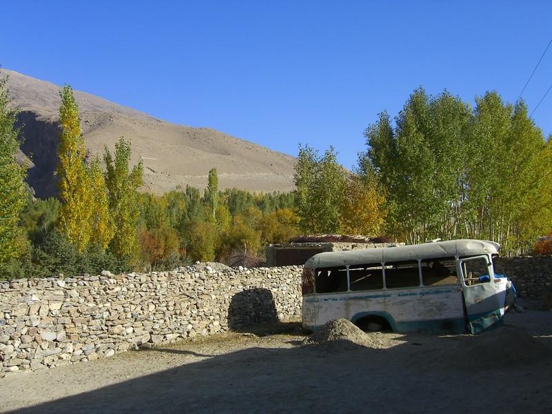 Abandoned Bus - Pamir Mountains, Tajikistan