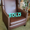 Faux Alligator Wing Back Chair