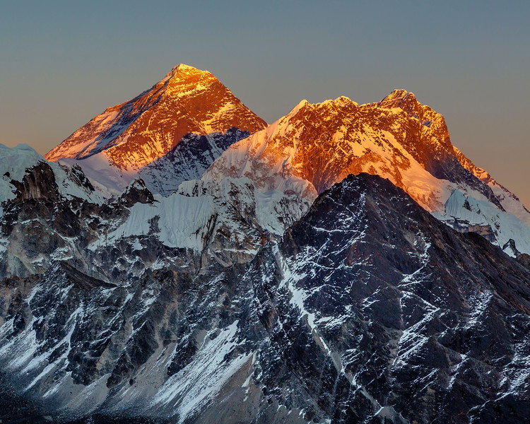 Mount Everest at Sunset 2