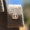 .52ctw Asscher Cut Diamond Bezel Stud Earrings, 18kt Rose Gold 25