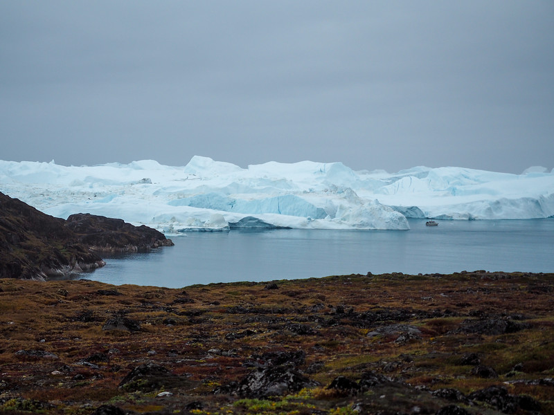 Ilulissat Icefjord on a cloudy day
