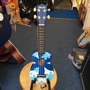 Amahi Blue Flower Soprano Ukulele