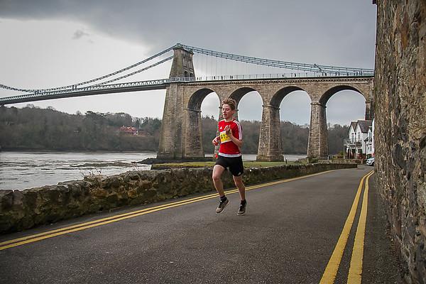 Anglesey Half Marathon with Bridge Background