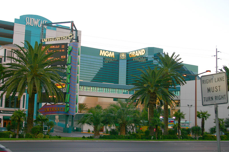 Sherie and Dwayne stayed at the MGM Grand - the world's largest hotel.