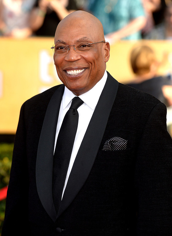 . Paris Barclay arrives at the 20th Annual Screen Actors Guild Awards  at the Shrine Auditorium in Los Angeles, California on Saturday January 18, 2014 (Photo by Michael Owen Baker / Los Angeles Daily News)
