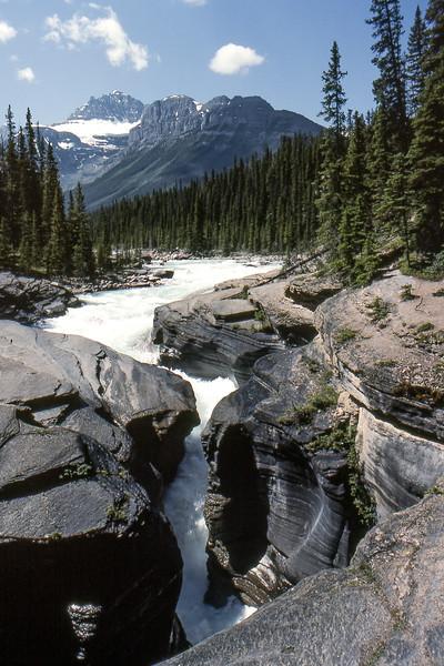 Mistaya River - Mistaya Canyon, Between Banff and Jasper, Alberta, Canada - Summer 1990