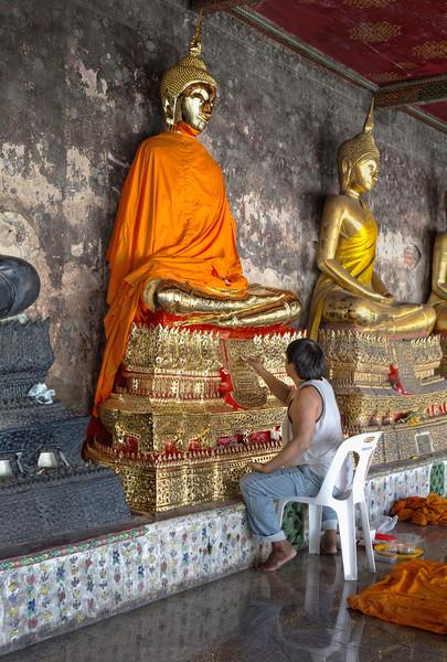 Restoring the Buddha.