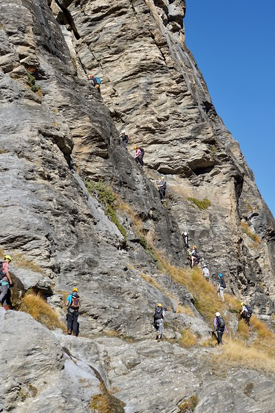 The group getting ready to head up the second section of the Via Ferrata
