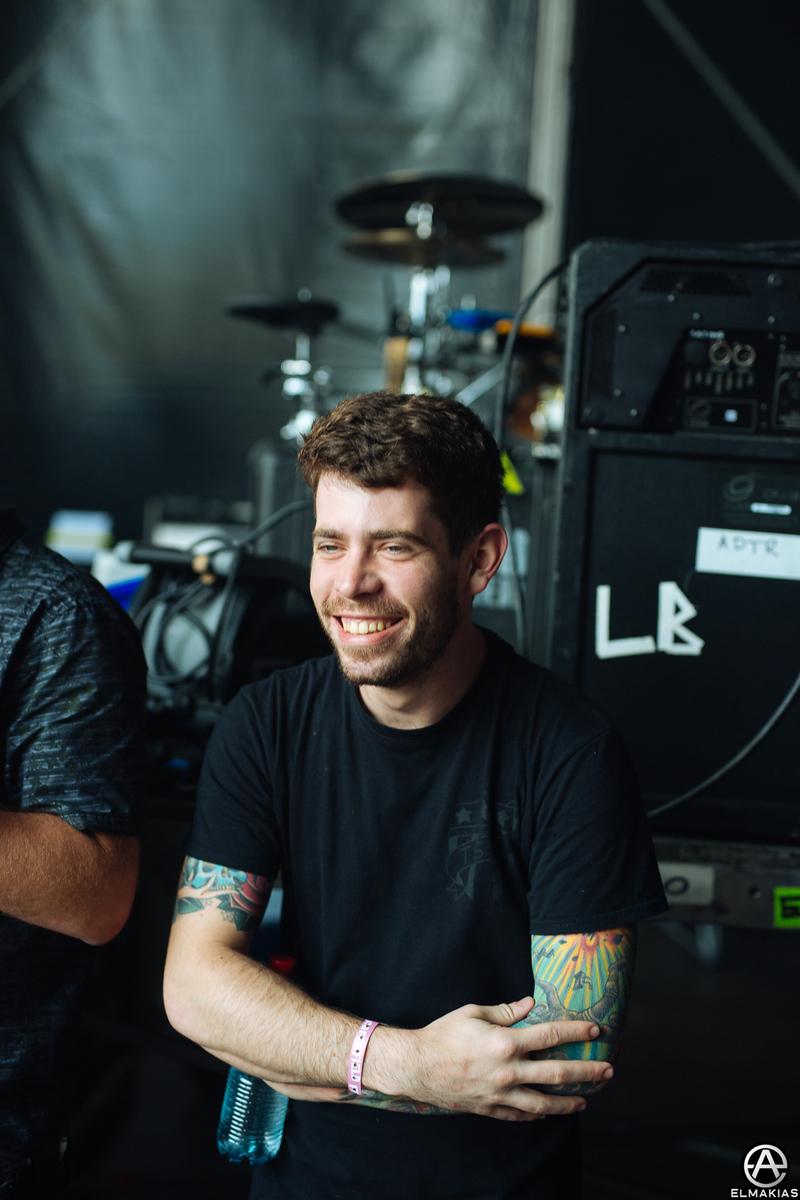 Alex Shelnutt of A Day To Remember backstage at Greenfield Festival in Interlaken, Switzerland - European Festivals