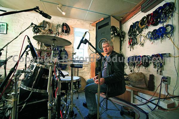 John Cornfield, record producer and recording engineer at Sawmills Studios, UK