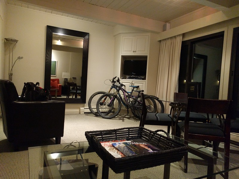 Our hotel room fit the bikes!