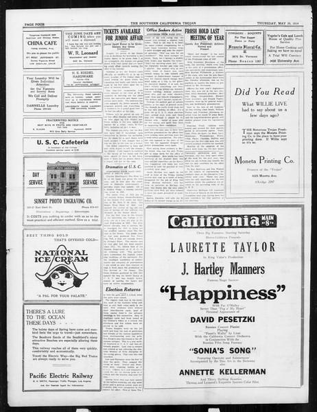 The Southern California Trojan, Vol. 15, No. 91, May 29, 1924