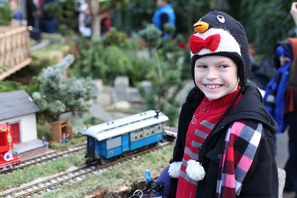 Quincy at Brookside Train Room - Dec. 2012