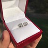 1.85ctw Old European Cut Diamond Stud Earrings 6