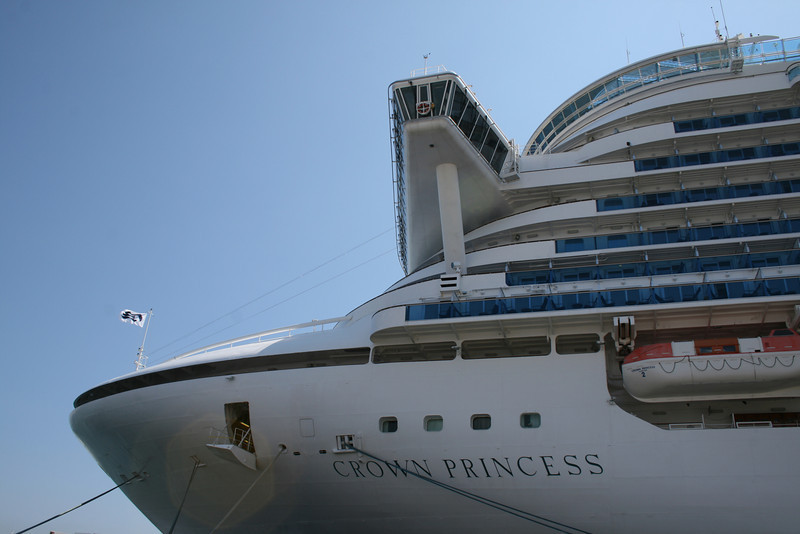 M/S CROWN PRINCESS : name and bridge.