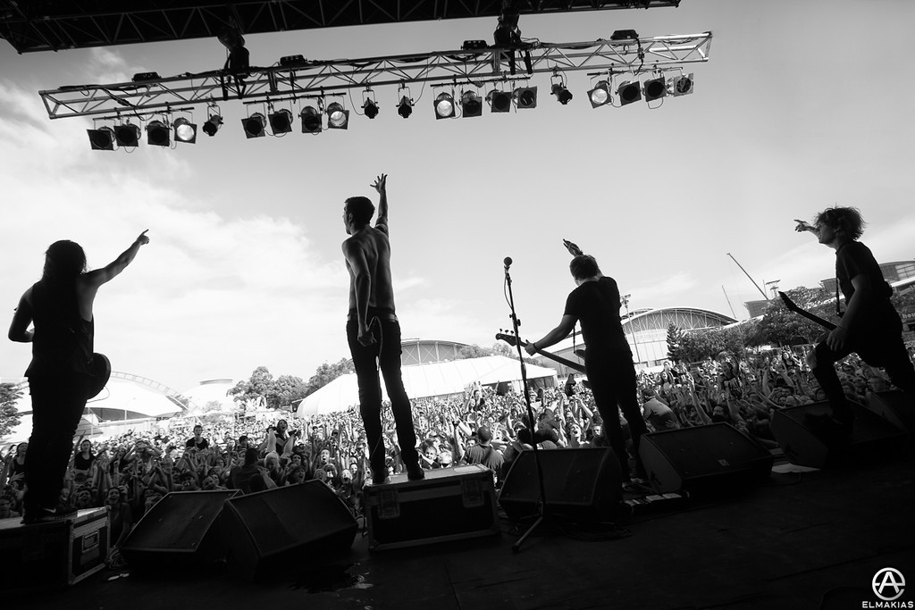 One of my favorite images from the tour - Soundwave Festival 2013