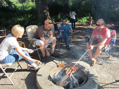Campfire with Packers and Gardners 9 2011
