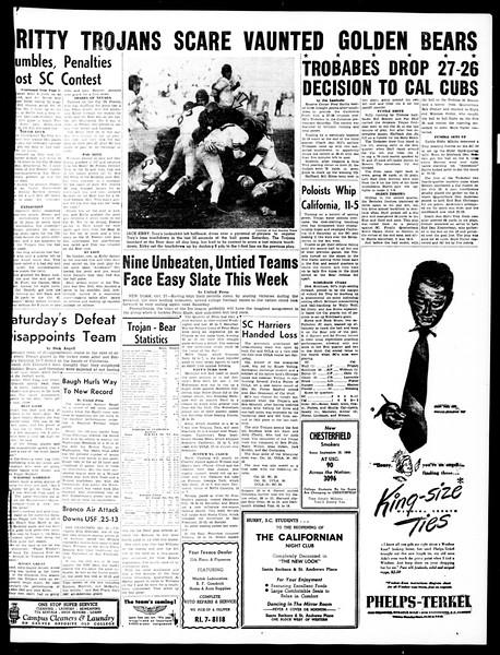 Daily Trojan, Vol. 40, No. 36, November 01, 1948