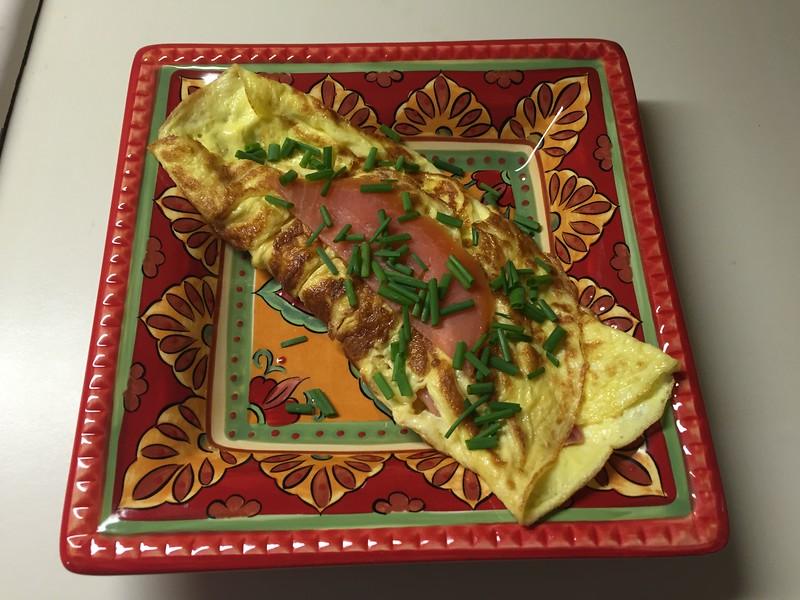 Smoked Norwegian salmon omelette