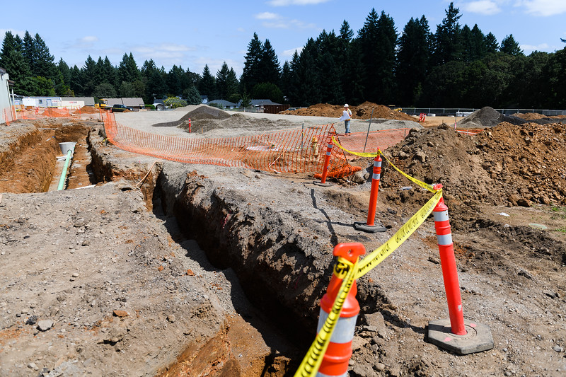 Trenchwork and excavation for new classrooms at Judson Middle School on Friday, August 16, 2019, in Salem, Ore.
